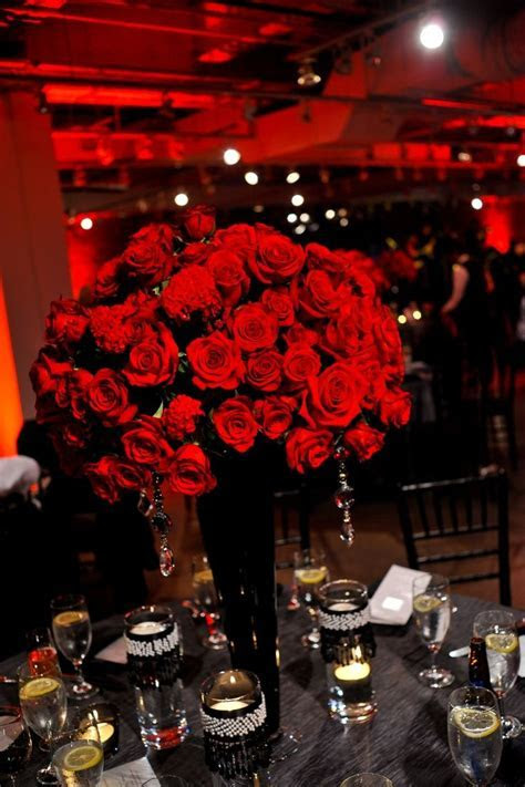 Best 25  Red rose centerpieces ideas on Pinterest
