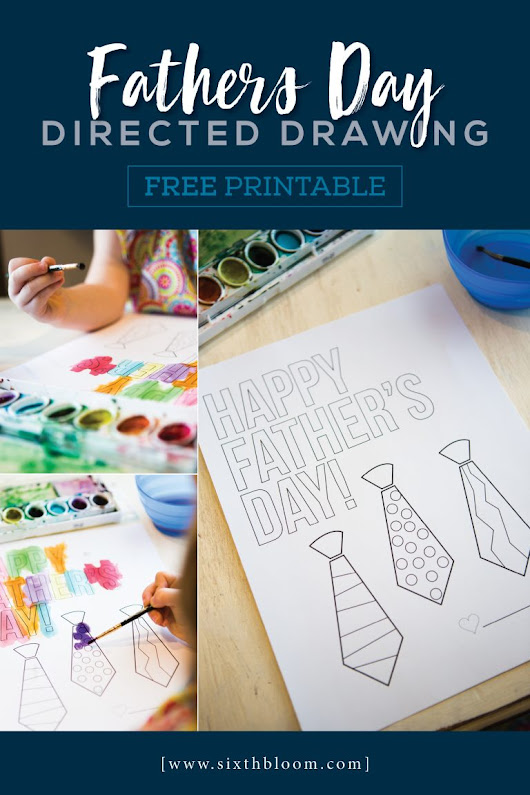 Fathers Day Directed Drawing - Free Printable - Sixth Bloom- Lifestyle, Photography & Family Blog