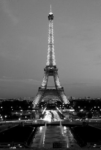 Eiffel Tower By Night Black And White Photos Black And White