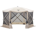 Gazelle 21500 G6 8 Person 6 Sided Portable Camping Canopy Gazebo Screen Tent by VM Express