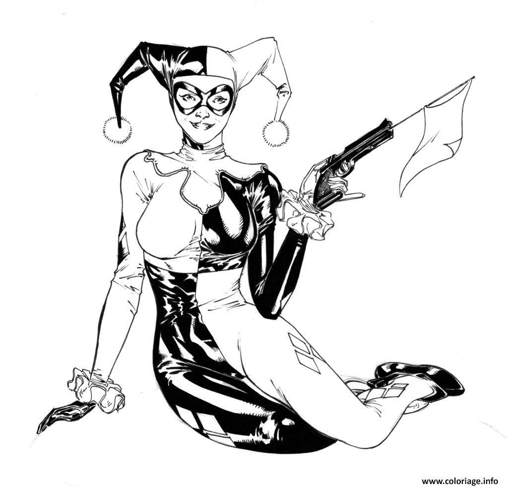 Coloriage Harley Quinn à Imprimer