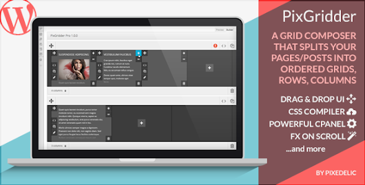 PixGridder Pro Page Grid Composer for Wordpress