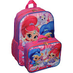 """Nickelodeon Girl Shimmer and Shine 16"""" Backpack with Detachable Matching"""