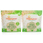 Happy Baby Clearly Crafted Oatmeal Baby Cereal 2 x 7 oz. - Organic Whole Grains