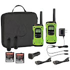 Motorola T605 35-Mile Talkabout H2O 2-Way Radios & Single-Pin Earpiece with Boom Microphone for Talkabout Radios