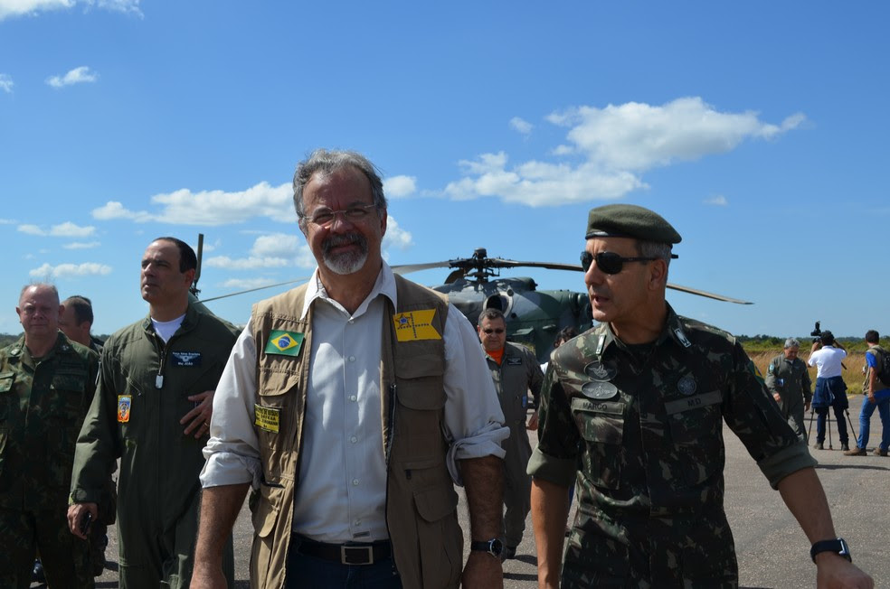 Raul Jungmann fala sobre combate de crimes na fronteira (Foto: Eliete Marques/G1)