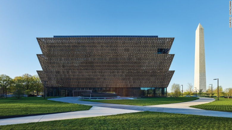 """The Smithsonian's <a href=""""https://nmaahc.si.edu/"""" target=""""_blank"""">National Museum of African American History and Culture</a> in Washington opens on September 24, after a dedication ceremony with President Barack Obama. The winning building design was by Freelon Adjaye Bond/Smithgroup, a four-firm team. It was built on the last available land on the National Mall."""