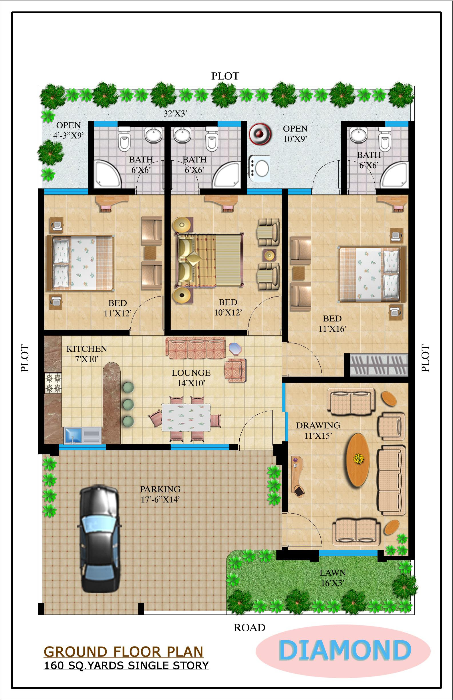 Architectural Design Of 120 Yard House