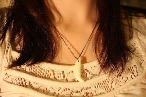 ON SALE Wolf Tooth Necklace