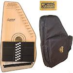 Oscar Schmidt 21 Chord Autoharp w/ Gig Bag, Solid Spruce, Gloss Finish, OS120CN-AC445