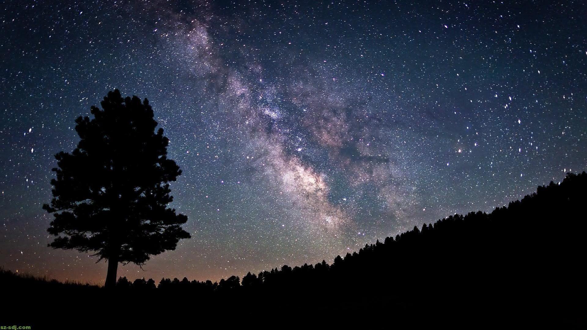 High Resolution Night Sky Wallpaper