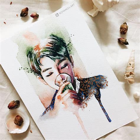 bts rapmonster fan art  artworks bts drawings fan