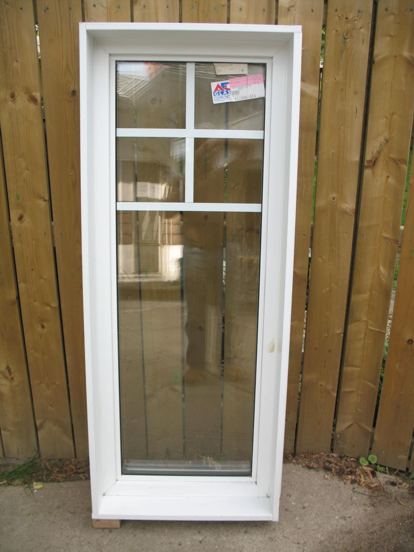 Pvc Casement Window Fixed Triple Glaze Low E Value 24x 60x 6