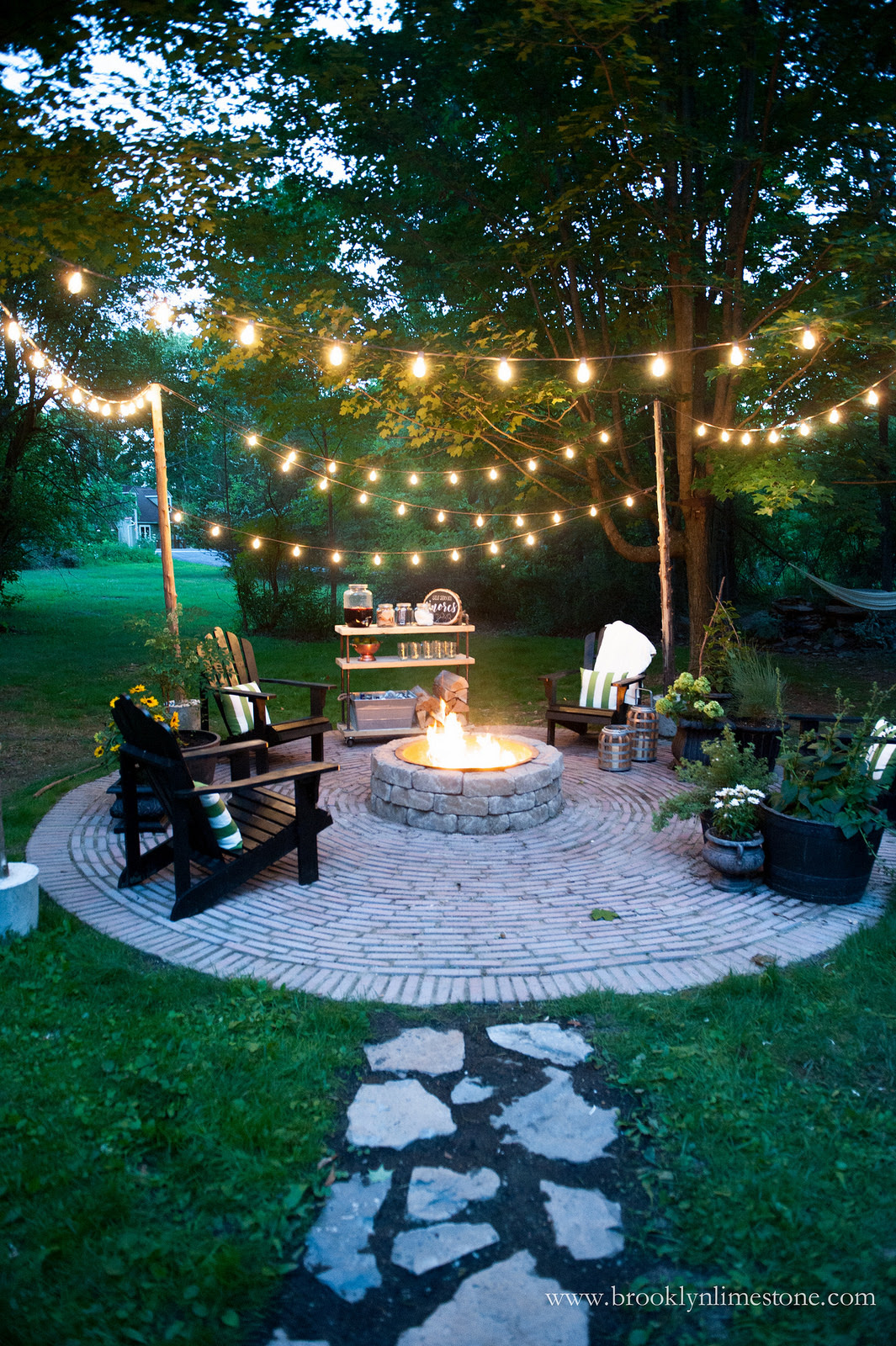 fire pit ideas for back yard seating decoration