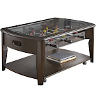 Steve Silver Diletta Foosball Game Coffee Table with Casters, Walnut