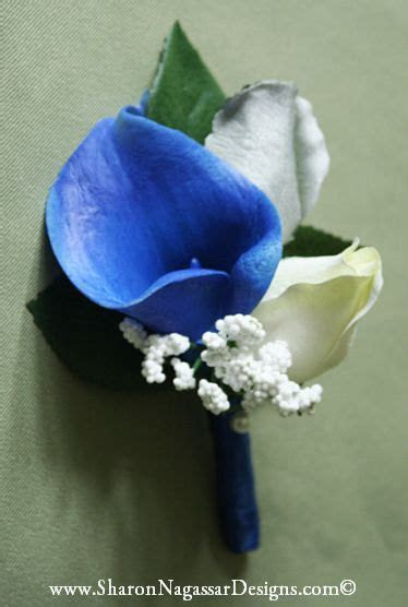 Royal blue, white, silver/grey, by Sharon Nagassar Designs