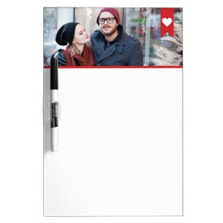 Banner with Heart Photo Dry Erase Board