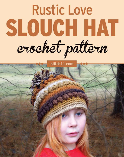This Rustic Love Slouch Hat crochet pattern is perfect the cold weather to keep head and ears warm. The popcorn stitches around and in several rows… | Pinteres…