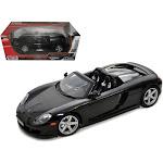 Porsche Carrera GT Black with Black Interior 1/18 Diecast Model Car by Motormax