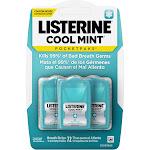 Listerine Cool Mint Pocketpacks Breath Strips Kills Bad Breath Germs - 24 Strip Pack - 3pk