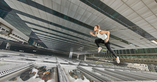 Photographer Dangles Athletes Off the Side of a Skyscraper