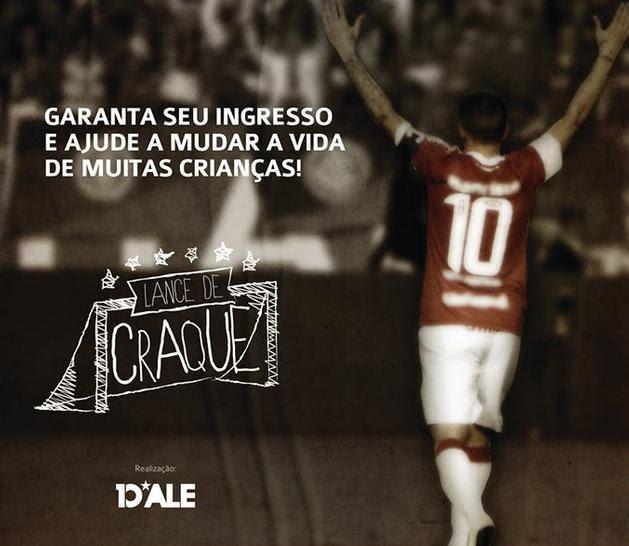 Jogo beneficente promovido por D'Alessandro abre venda de ingressos Reprodução/Lance de Craque