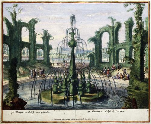 Fonteyn en colise van groente - Fontaine et colise de Verdure