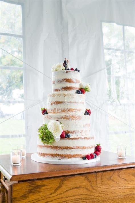 Half Naked Wedding Cake   CakeCentral.com