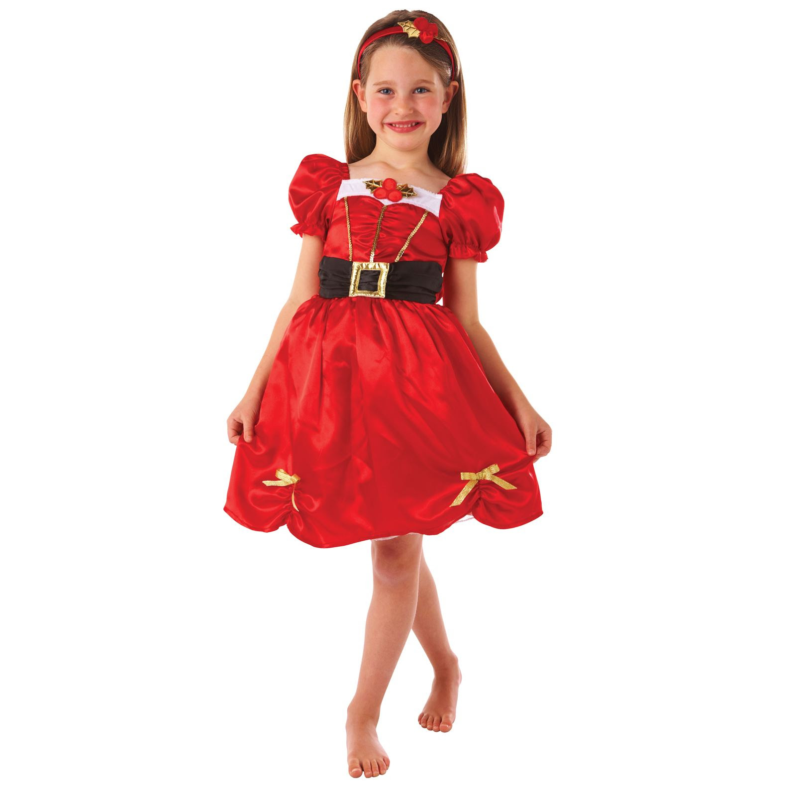 girls red little miss santa claus christmas day fancy