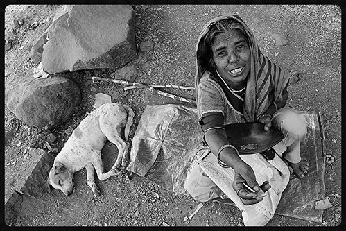 She And Her Dog.. Beggars Of Haji Malang by firoze shakir photographerno1