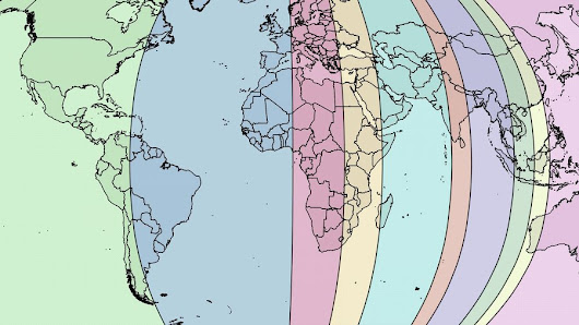Earth Divided in Ten Zones of Equal Population