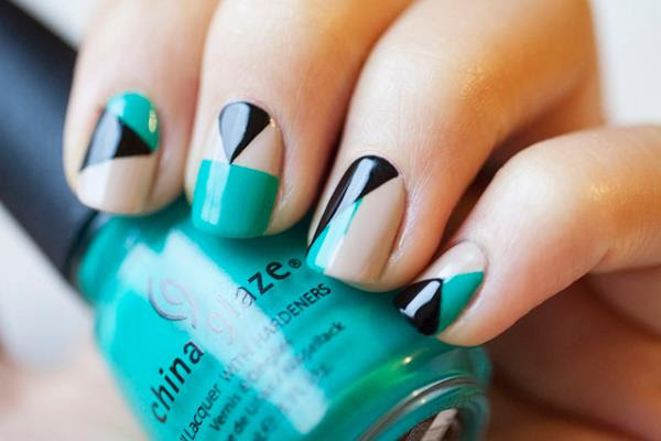 34 Amazing DIY Nail Art Ideas Using Scotch Tape (9)