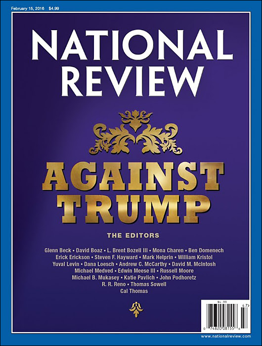national review against trump cover