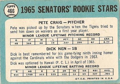 1965 Senators Rookies (back) by you.