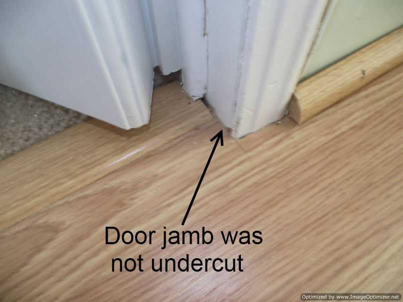 Installing Laminate Flooring Under Door