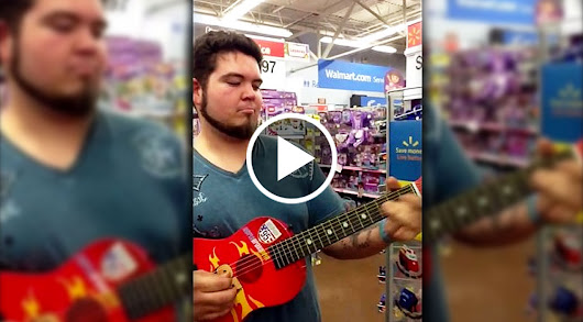 Walmart Shopper Picks Up Toy Guitar - What Happened Next Nearly Broke The Internet