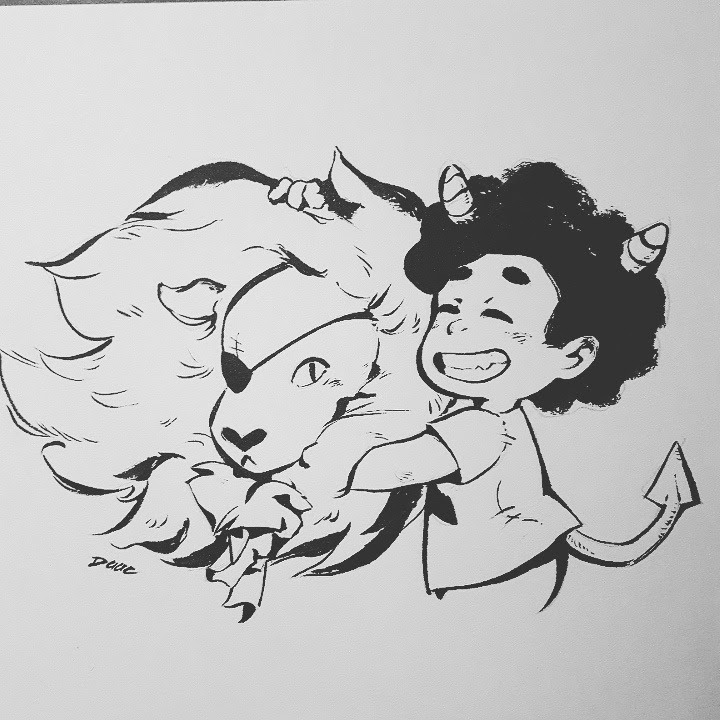 12/31 sketch of a steven universe sticker - special halloween