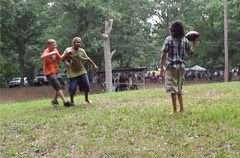 football in the rain by Teckelcar