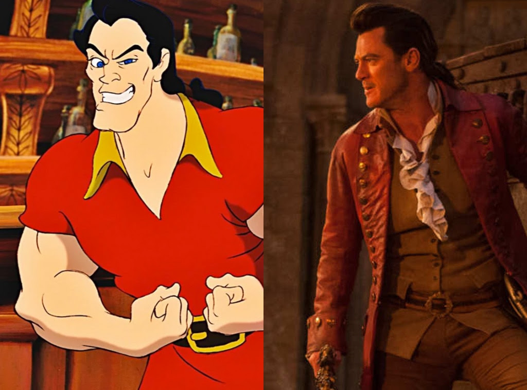 Gaston, Beauty and the Beast, Animated Disney vs. Live Action Disney