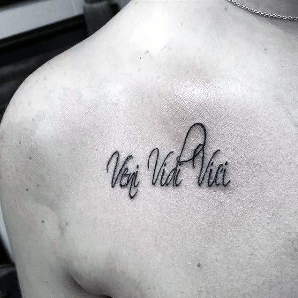 60 Veni Vidi Vici Tattoo Designs For Men Julius Caesar Ideas