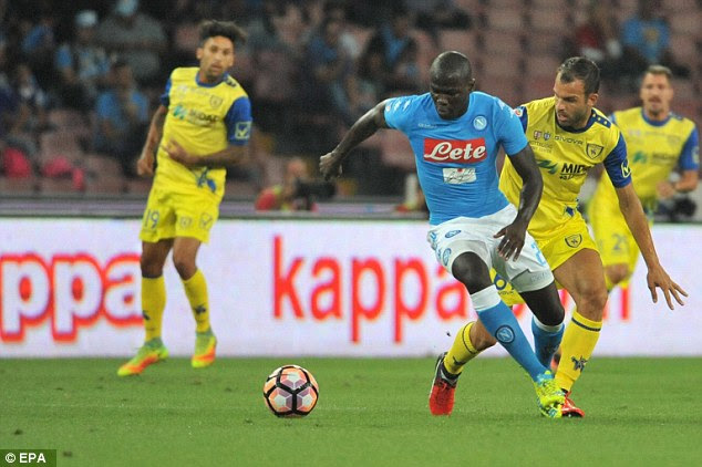 Conte was keen to sign Napoli's Kalidou Koulibaly but the clubs failed to agree a fee