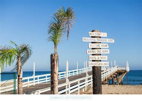 Paradise Cove Beach, Pier & Signage in Malibu, CA