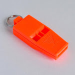 Acme Slimline Tornado Model 636 Pealess Whistle Day Glow Orange