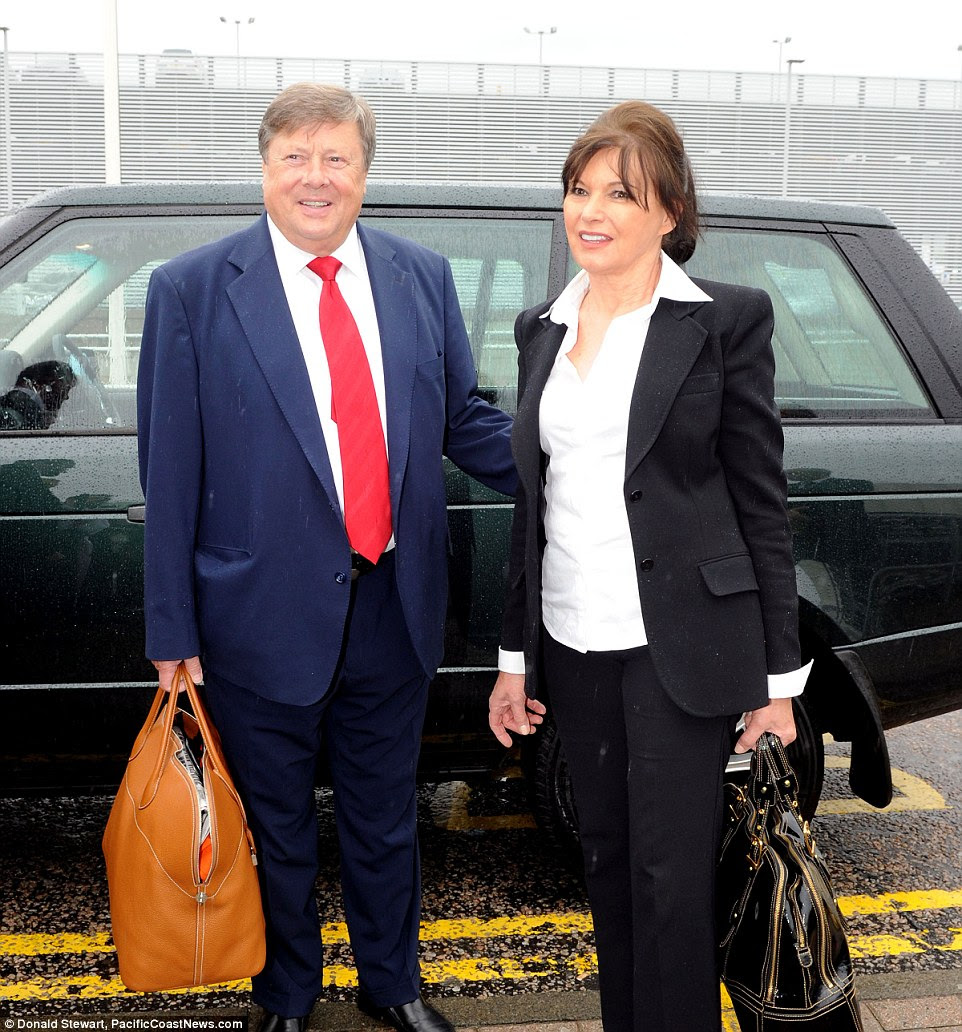 Meet the parents: Melania's father Viktor Knavs (left) was a listed member of the League of Communists, but her mother Amalija Ulcnik (right) was not a member. His appearance has been compared to that of his son-in-law, to whom both he and his wife are close