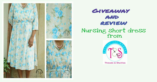 Nursing dress from Threads and Shuttles - For an easy and most functional nursing access