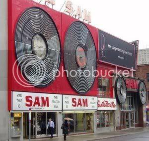 Sam The Record Man - downtown Toronto