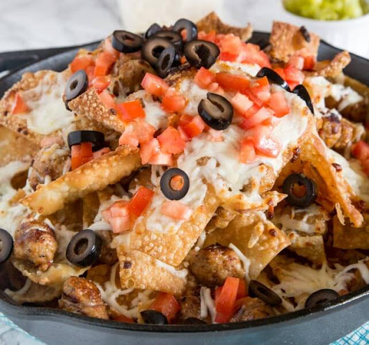 Italian Nachos with Sausage - Dinners, Dishes, and Desserts