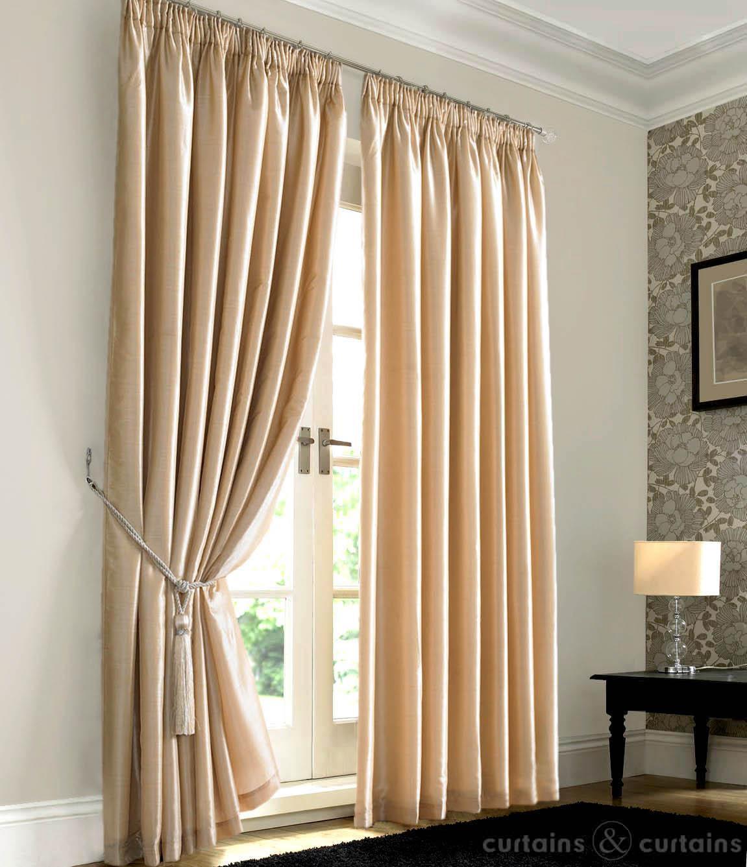 Cream Bedroom Curtains