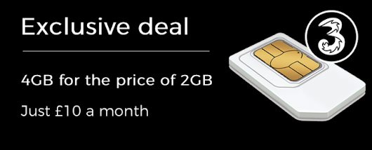 Exclusive Three SIM Only Deal - 4GB for the price of 2GB!