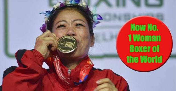 According to AIBA chart, Mary Kom ranked the Top-Grade Boxer in the World with splendid 1700 points